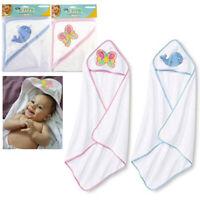 2 X Hooded Towel Baby Bath Blanket Infant Wrap Bathrobe Butterfly Whale Animal