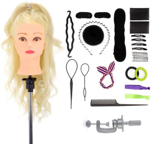"""Neverland Beauty Hairdressing Training Head with Gift Box 24"""" 70% Real Hair Head"""