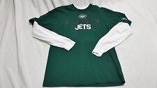 New York Jets shirt~Long sleeve~REEBOK~Men's Medium~100% cotton~NFL  *EUC*