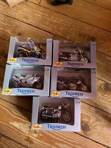 Maisto 1:18 scale Triumph Motorbikes Models Bundle