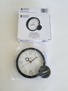 Howard Miller 645-136 Eclipse Table Clock,Round Black W/Complementing Base 5-1/4