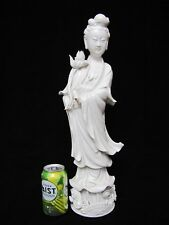 """Antique Chinese Porcelain GuanYin Large Statue.  19.75"""" tall"""