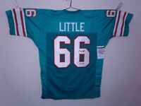 LARRY LITTLE SIGNED AUTO MIAMI DOLPHINS TEAL JERSEY JSA HOF 93 AUTOGRAPHED