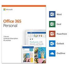 Microsoft Office 365 Personal 5 Geräte - 1 Nutzer - 1 Jahr Abo MS Office 2019 DE
