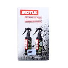 Motul Motorcycle Motorbike Helmet Care Kit Helmet Visor Interior Cleaner Cloth