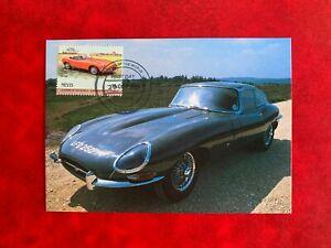 NEVIS 1984 PHQ MAXI CARD PHQ CLASSIC CARS JAGUAR E TYPE 4.2 LITRE 1967