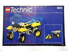 NOTICE LEGO TECHNIC vintage manuel d'instructions montage rèf: 8826