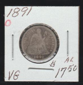 1891-O Seated Liberty Dime, EF