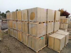 Bradstone Peak Smooth Buff 600x600mm Slabs: Slight Seconds - Includes Delivery
