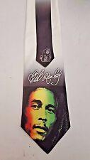 L@@K! Bob Marley White Satin Neck Tie -  Jamaican reggae