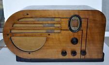 1937 PHILCO 610T BIG BULLET 3-BAND TUBE TABLE RADIO ART DECO WOOD CABINET WORKS