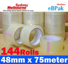 144 Rolls Clear Packing Packaging Tape 48mm x 75m - High Quality Wholesale Price