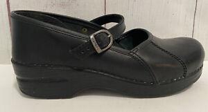 Dansko Marcelle Clogs Mary Jane Women's Size EUR 38 Black