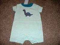 Gymboree Baby Boy 0-3 months Size Birds & Dinos One-Piece Romper Outfit NWT NEW