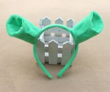 Women Kid Child Shrek Green Costume Ear Monster Party Hair head band Prop