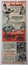 1952 Gillette cartoon ad ~ GUS ZERNIAL ~ Philadelphia Athletics