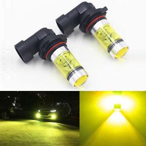2PCS Yellow Fog Driving Light Bulbs Fits for 9006 HB4 100W 2323 LED 4300K