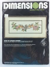 Dimensions Row of Spring Robins Counted Cross Stitch Kit 3648 Linda Powell