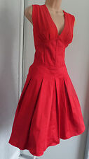TED BAKER PRETTY LADIES PARTY COCKTAIL OUTFIT RED DRESS SIZE 5 UK 14/16?