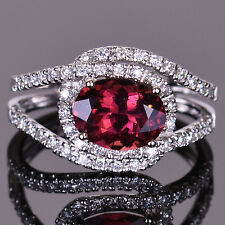Pink Tourmaline Diamond Infinity Ring