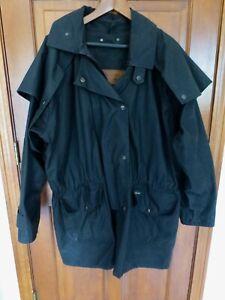 Men's XL OUTBACK TRADING CO Oilskin Saddle Jacket Duster Jacket Black