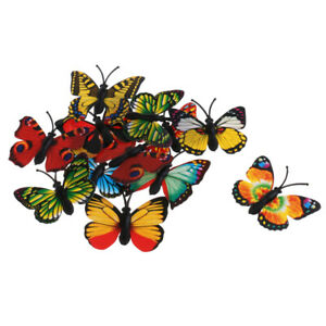 Pack of 12 Assorted Lifelike Butterfly Action Figure Insects Model Kids Toy