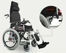Foldable Lightweight Portable 24V 20Ah Can Lying & Manual Electric Wheelchair