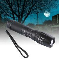 5000lm 5 Modes Adjustable Flashlight CREE XM-L T6 LED Zoom Military Torch MO