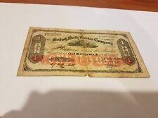 1930British North Borneo $1 rare VG