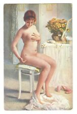Guillaume the fly c1910s Vintage postcard Nude young woman /385