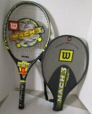 Wilson Mach 3 Power Slots Graphite Titanium Tennis Racquet 4 3/8 And Case
