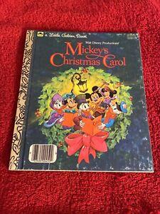 Vintage Mickey's Christmas Carol Little Golden Book (1983)