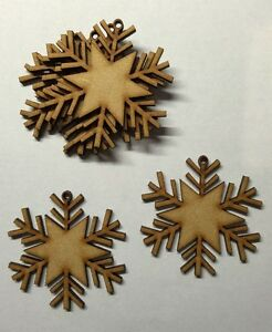 laser cut wooden snowflakes shapes xmas tree decoration Embellishments mdf Craft