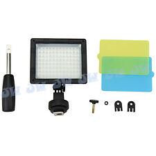 JJC Adjustable LED Light with Hand Grip & 3 Diffuser For Canon Nikon Sony Pentax