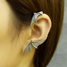 COOL Women Jewelry Solid 925 Sterling Silver Bat Wings Ear Clip Cuff earring