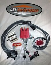 FORD Y-Block 256-272-292-312 Small HEI Distributor RED + 60K Coil + Plug Wires