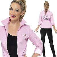 DELUXE Pink Ladies Lady Jacket Official Licensed Grease Fancy Dress Name Badges