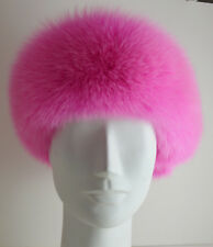 Real Pink Fox Fur Headband New ( made in the U.S.A.) genuine authentic