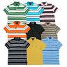 Tommy Hilfiger Mens Polo Shirt Short Sleeves Mesh Custom Fit Striped Flag Logo