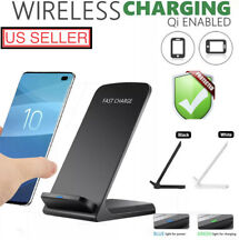 10W Fast QI Wireless Charger Charging Dock Station Stand Samsung iPhone Huawei