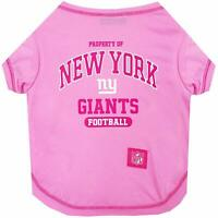 Pets First New York Giants Pink Pet T-Shirt, X-Small