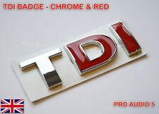 ROSSO CROMATO TDI BADGE-turbo diesel auto van Boot VW GOLF PASSAT POLO-UK POST