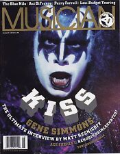 KISS GENE SIMMONS COVER MUSICIAN MAGAZINE AUGUST 1996 ACE FREHLEY ARTICLE