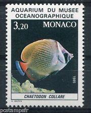 MONACO 1985, timbre 1485, POISSON CHAETODON COLLARE, neuf**