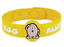AllerMates EGG Allergy Wristband Medical Alert ID Eggs Silicone Bracelet NEW