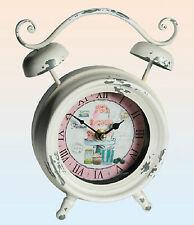 Orologio da tavolo tondo stile Vintage riproduzione vecchia sveglia col. crema
