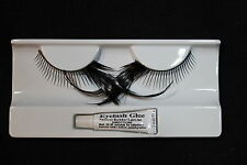 STUNNING FALSE FAKE EYELASHES FEATHERS DIVA FLAPPER BLACK REUSABLE