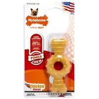 Nylabone Dura Chew Textured Ring Bone Dog Chew Chicken Extra Yellow