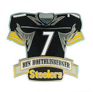 Ben Roethlisberger #7 Pittsburgh Steelers NFL Jersey Banner Pin