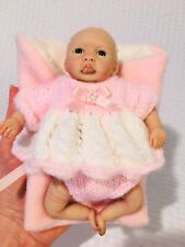 Mini silicone Reborn baby Girl Doll 6� Ooak Artist Made Bubble Mouth Extra Dress